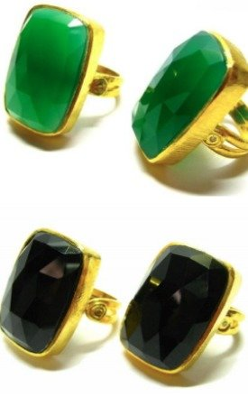 Athura Gold Ring with Colourful Gemstones by Taara Jewelry