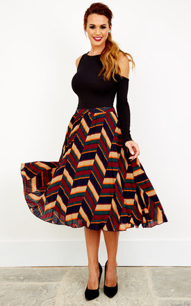 Multi Colour Midi Skirt by Glamorous Product photo