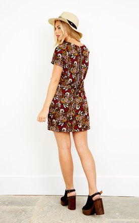Floral short sleeved shift dress by Glamorous