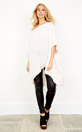Blush sequin hem and sleeve oversized top by Bella and Blue