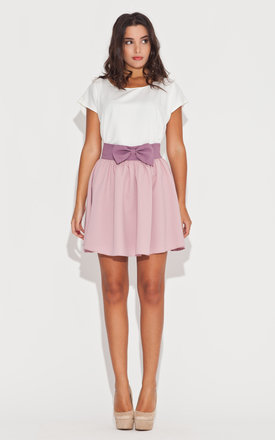Pink bow flared skirt by KATRUS