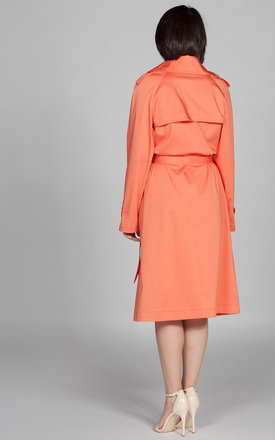 Trench Coat Salmon Pink by ARAMINTI