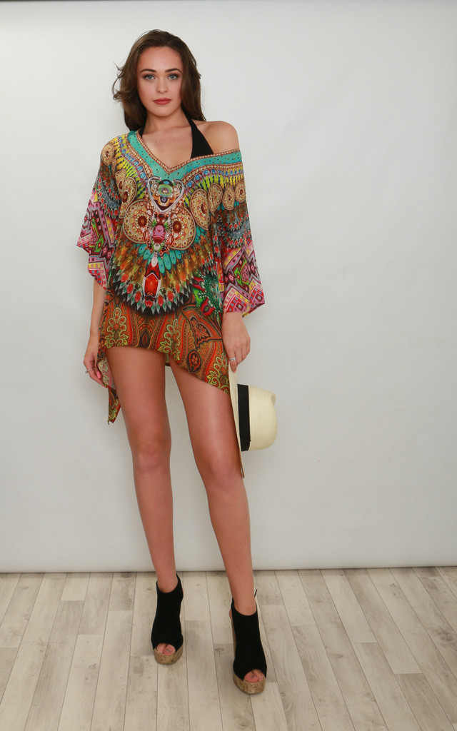 Palolem Mini Kaftan Top by Kitten Beachwear
