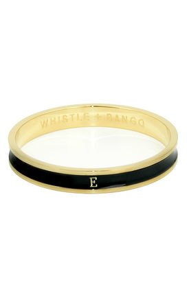 Letter E bangle by Whistle & Bango