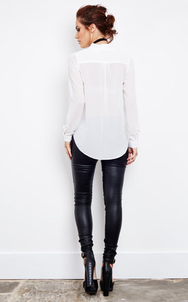 Sheer cross over white blouse by Glamorous