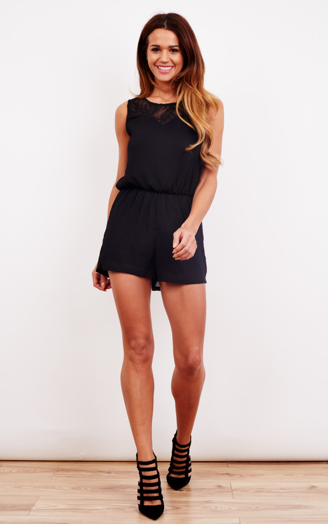 Crepe Finish Playsuit by Oeuvre