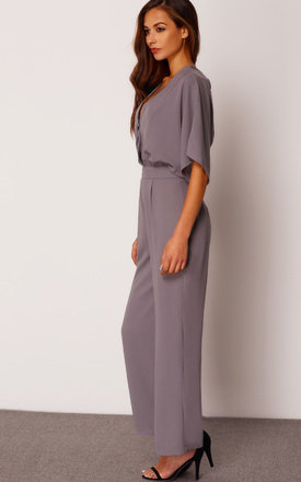 Wrap Over Wide Leg Jumpsuit by Oeuvre