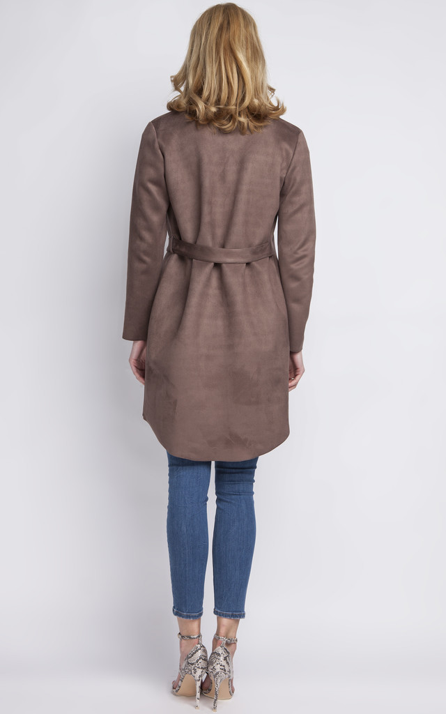 Maxi suede jacket by Lanti