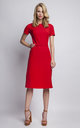 Romantic Short Sleeve Dress in Red,  summer day dresses by Lanti