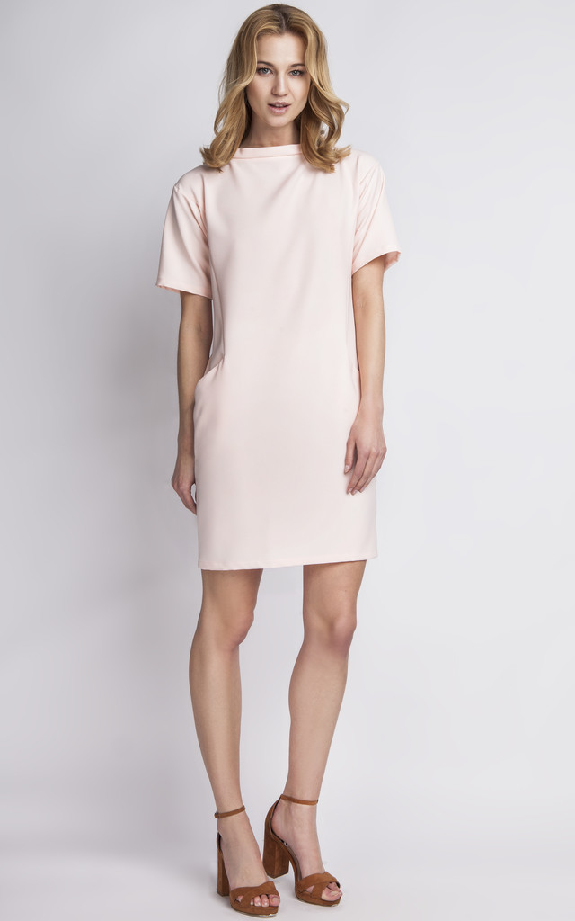 Pink Two Pocket Dress by 4FASHION Lanti 5732465965
