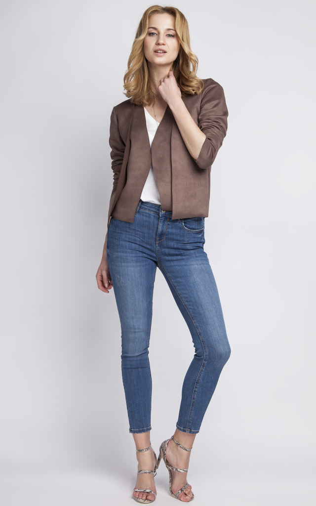 Short suede Jacket by Lanti