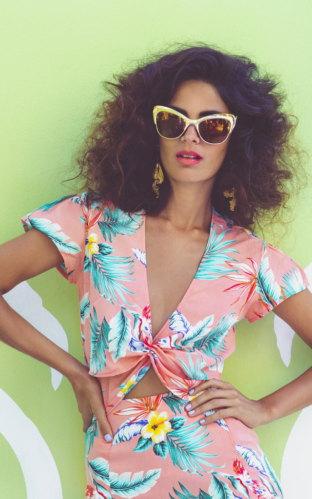 Phoenix Top in Pink Tropical by Dancing Leopard
