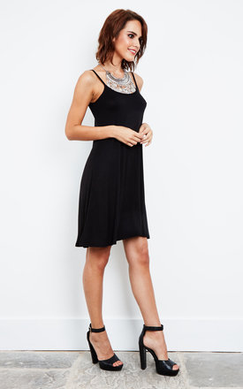 Thin Strap Swing Dress Black by Bella and Blue