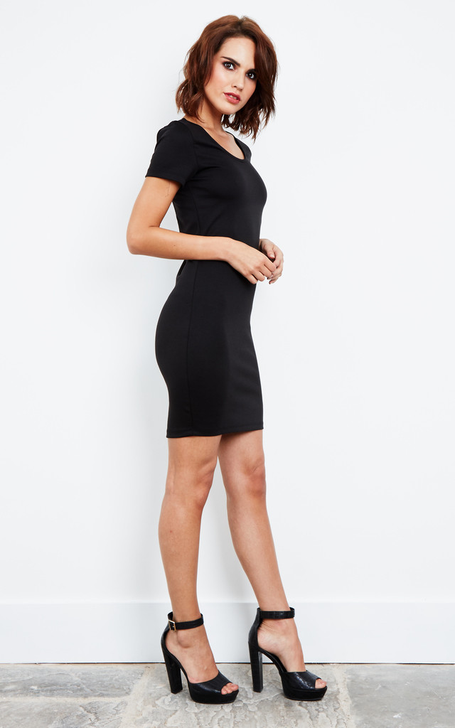 Black Cut Out Back Jersey Dress by Noisy May