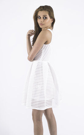 Fit and Flare White Dress by Girl Outlaw