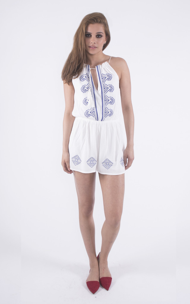 Lady of the Island Drawstring Playsuit by Girl Outlaw