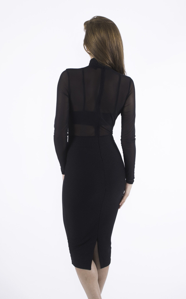 Overexposed Black Mesh Dress by Girl Outlaw