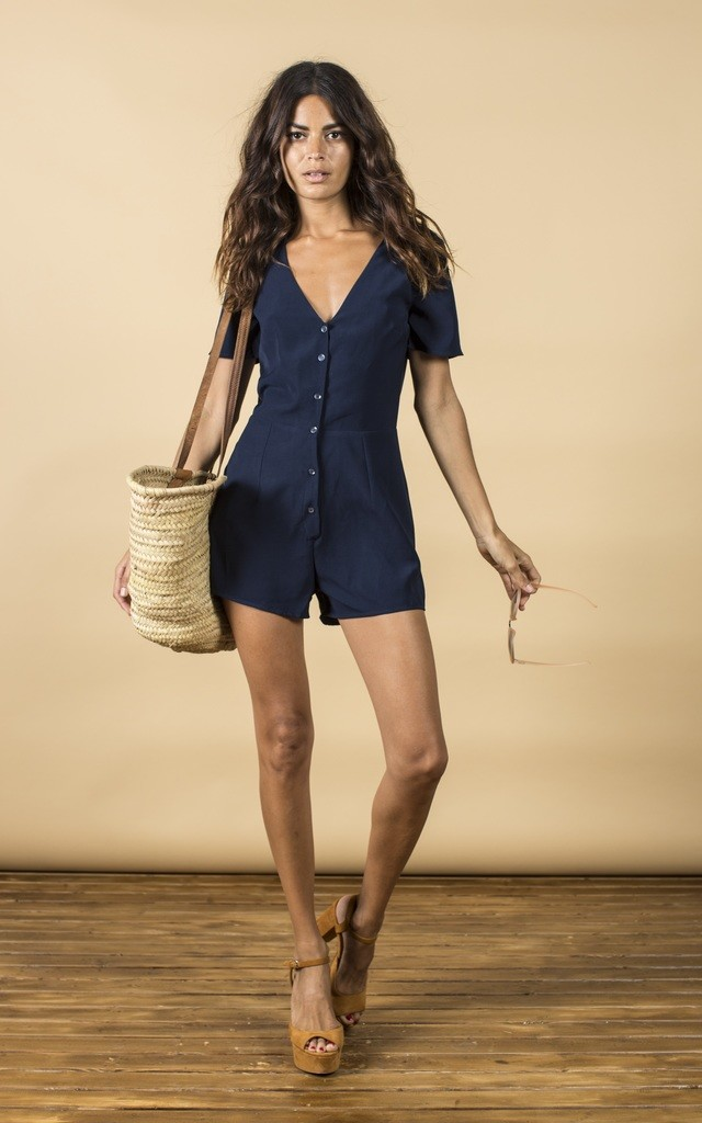 Bambi Playsuit in Navy image