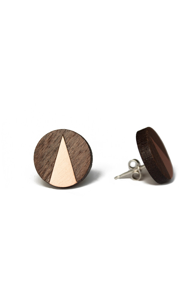Cate Walnut & Copper Studs by Form London