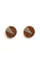Cate Walnut & Brushed Steel Studs by Form London