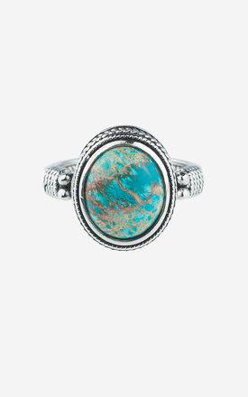 TILDA Sterling Silver Turquoise Ring by Rock N Rose