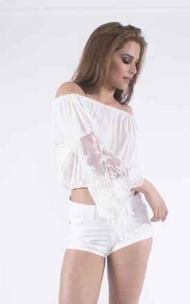 Barely There Off The Shoulder Crop Top by Girl Outlaw