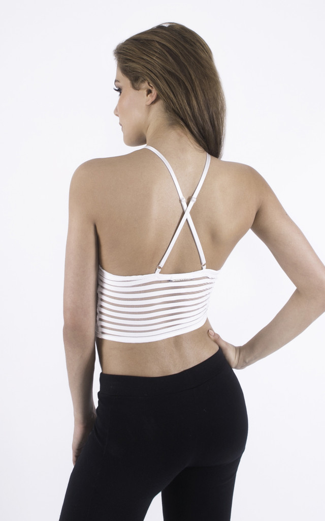 White ribbed Crop by Girl Outlaw