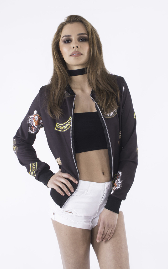 Femme Fatality Military Bomber Jacket by Girl Outlaw