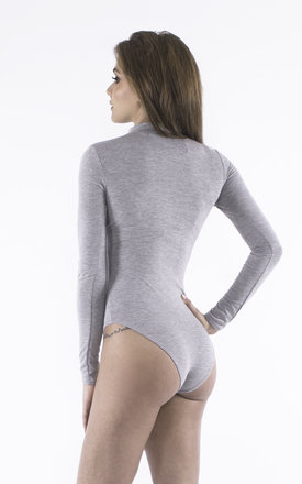 Choke me Grey Bodysuit by Girl Outlaw