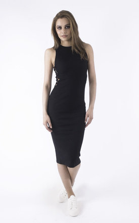On the Right Tracks Ribbed Midi Dress by Girl Outlaw