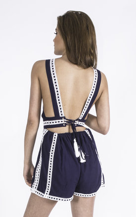 Dare To Bare Open Back Playsuit by Girl Outlaw
