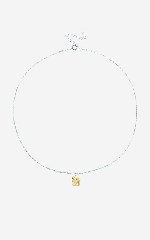 SASSY GIRL Sterling Silver Emoji Necklace by Rock N Rose
