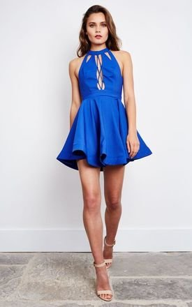 Cobalt Heartbeat Skater Dress by Ginger Fizz Product photo