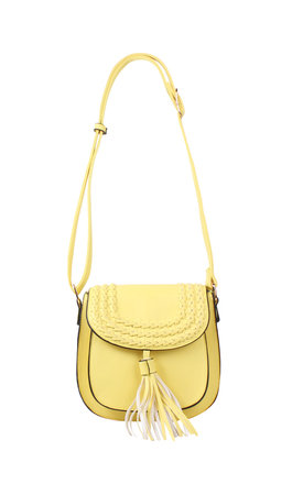 Yellow Braided Shoulder Bag by Jezzelle