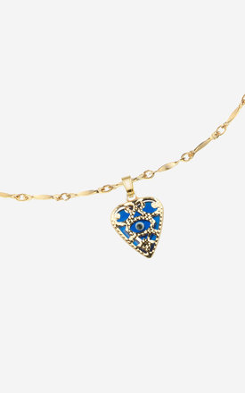 NYDIA Evil Eye Sacred Heart Short Necklace by Rock N Rose