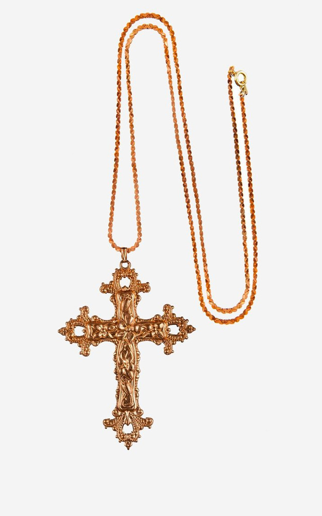 GABRIELLE Vintage Baroque Cross Necklace by Rock N Rose
