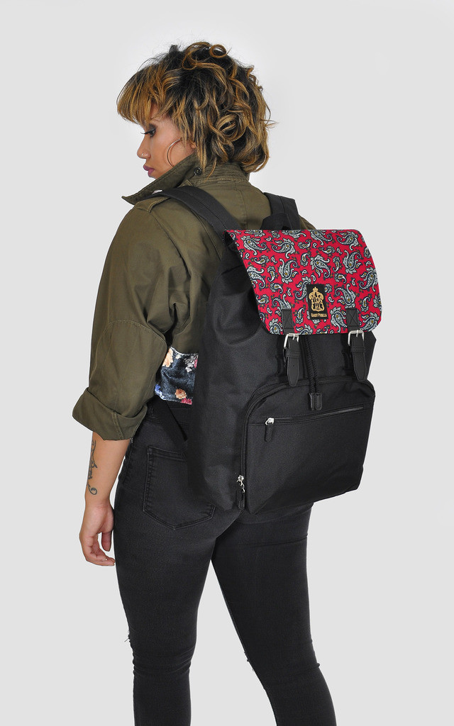 Paisley Panel Laptop Backpack by The Left Bank