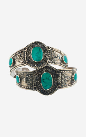ASTRID Set of Two Turquoise Cuffs by Rock N Rose