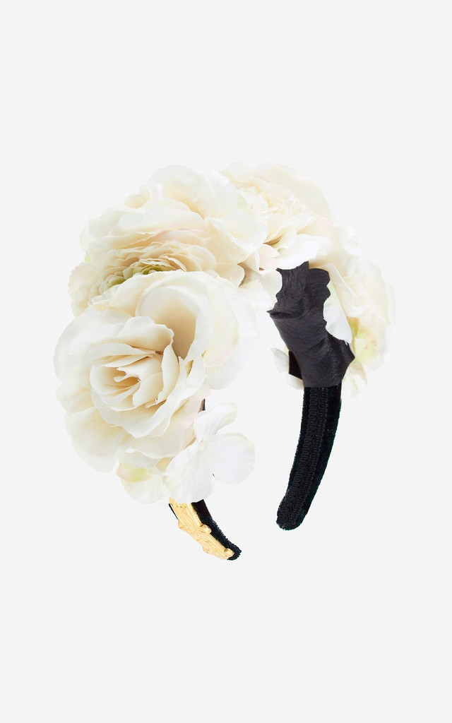 MARTHA White Rose Baroque Crown by Rock N Rose