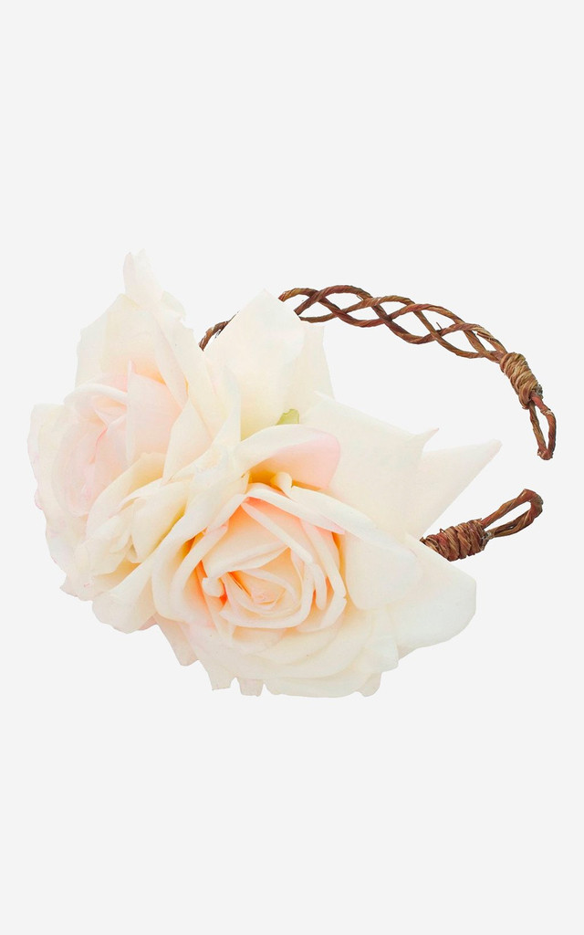 ARABELLA White Rose Crown Headband by Rock N Rose