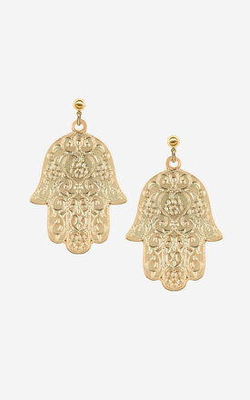 ESMA Oversize Hamsa Hand Earrings by Rock N Rose
