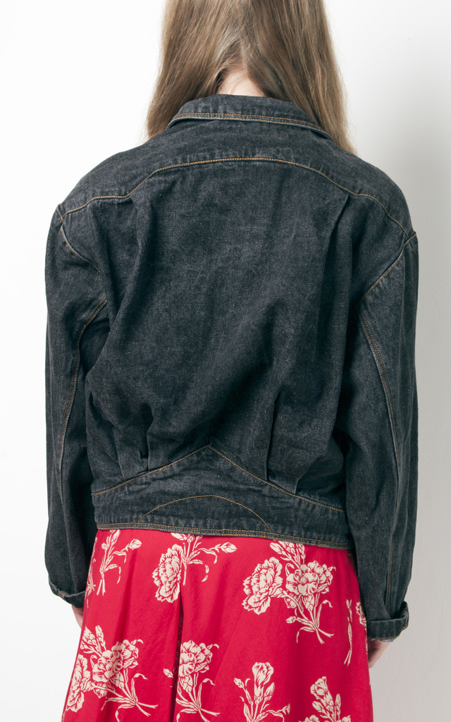 90s vintage grey grunge denim jacket by Pop Sick Vintage
