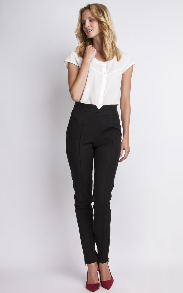 Black High Waisted Trousers by Lanti