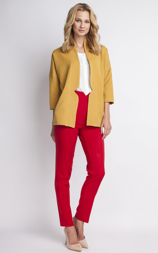 Mustard Casual Jacket by Lanti