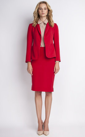 Red Short Jacket by 4FASHION Lanti