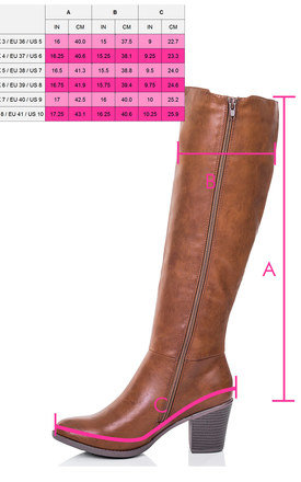 SOCOTRA Stretch Block Heel Knee High Tall Boots - Tan Leather Style by SpyLoveBuy