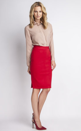 Red Midi Skirt, Christmas party by Lanti