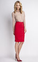 Red Midi Skirt by Lanti