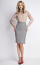 Grey Midi Skirt by Lanti
