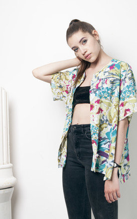 90s flower printed oversized blouse by Pop Sick Vintage